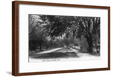 Orlando, Florida - View Down West Street-Lantern Press-Framed Art Print