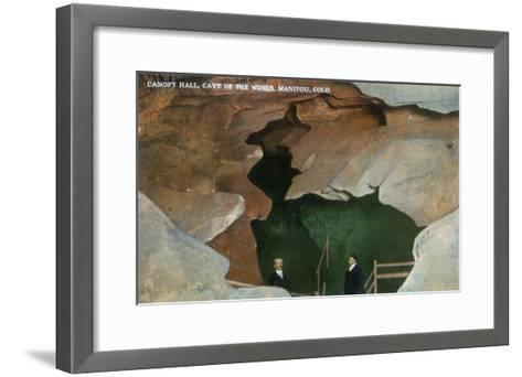 Manitou Springs, Colorado - Interior View of Canopy Hall, Cave of the Winds-Lantern Press-Framed Art Print