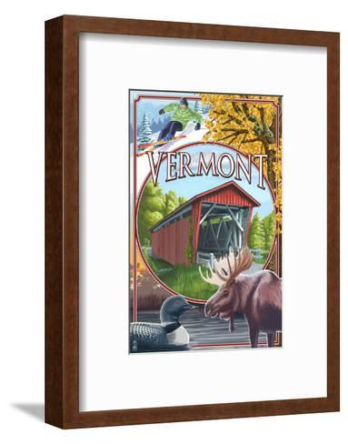 Vermont Scenes-Lantern Press-Framed Art Print