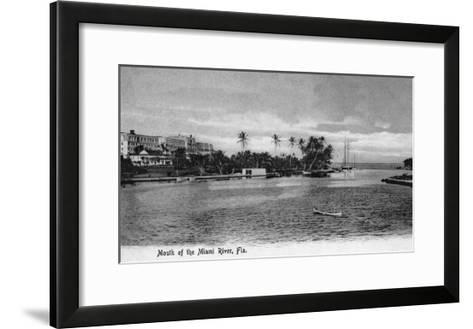 Miami, Florida - Mouth of the Miami River Scene-Lantern Press-Framed Art Print