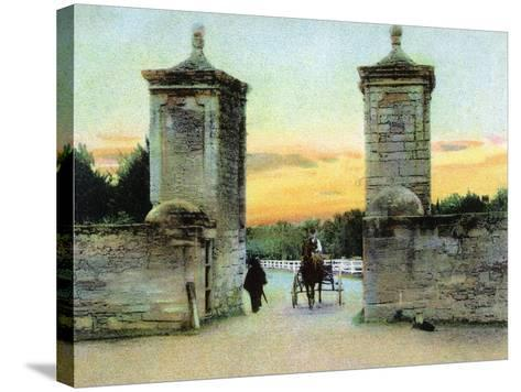 St. Augustine, Florida - View of the Old City Gate-Lantern Press-Stretched Canvas Print