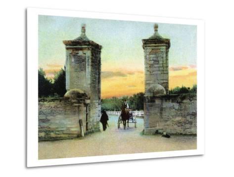 St. Augustine, Florida - View of the Old City Gate-Lantern Press-Metal Print