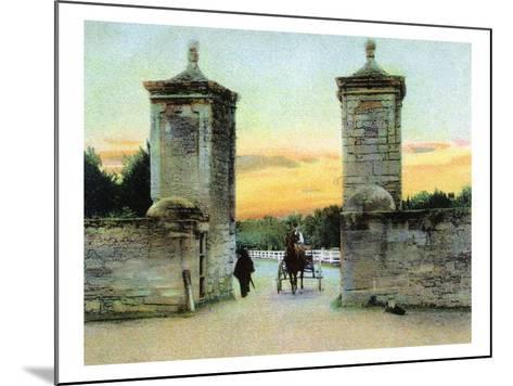 St. Augustine, Florida - View of the Old City Gate-Lantern Press-Mounted Art Print