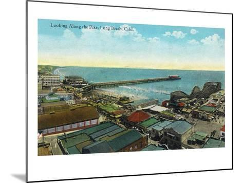 Long Beach, California - Aerial View over the Pike-Lantern Press-Mounted Art Print