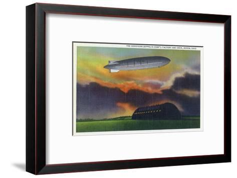 Akron, Ohio - View of the Goodyear-Zeppelin Corp Factory and Dock-Lantern Press-Framed Art Print