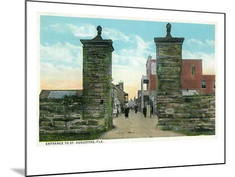 St. Augustine, Florida - View of the City Gates-Lantern Press-Mounted Art Print