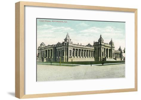 Riverside, California - Exterior View of the Court House-Lantern Press-Framed Art Print