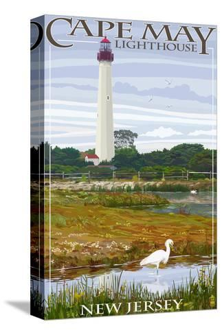 Cape May Lighthouse - New Jersey Shore-Lantern Press-Stretched Canvas Print