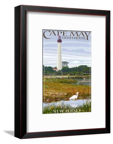 Cape May Lighthouse - New Jersey Shore-Lantern Press-Framed Art Print