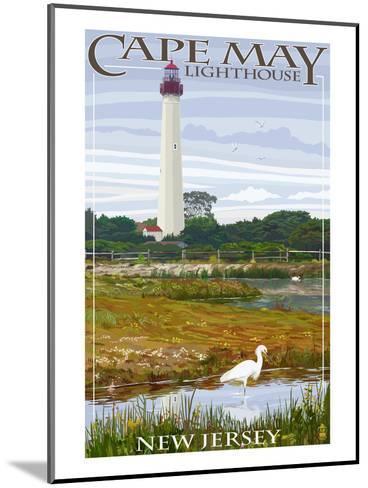 Cape May Lighthouse - New Jersey Shore-Lantern Press-Mounted Art Print