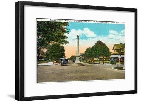 Tampa, Florida - Memorial Hwy, Road of Remembrance Scene-Lantern Press-Framed Art Print
