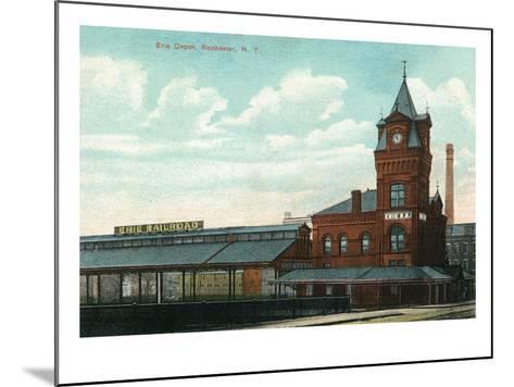 Rochester, New York - Eric Train Depot View-Lantern Press-Mounted Art Print