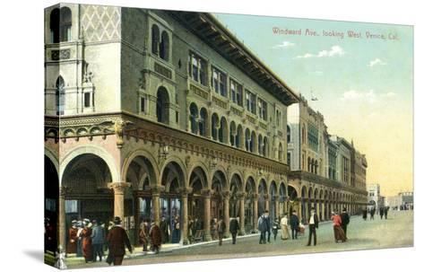 Venice, California - Western View Down Windward Avenue-Lantern Press-Stretched Canvas Print