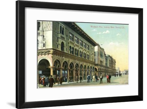 Venice, California - Western View Down Windward Avenue-Lantern Press-Framed Art Print