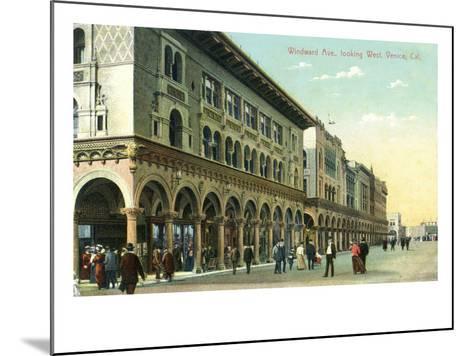 Venice, California - Western View Down Windward Avenue-Lantern Press-Mounted Art Print
