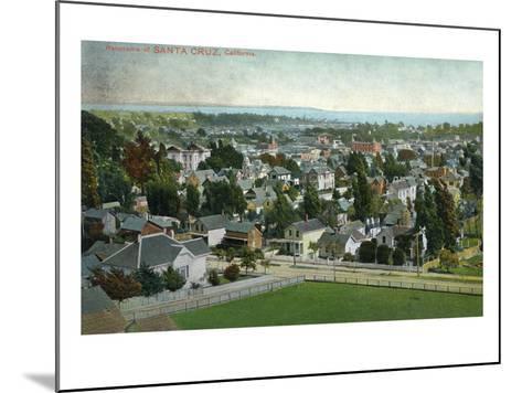 Santa Cruz, California - Panoramic View of Town-Lantern Press-Mounted Art Print