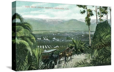 Redlands, California - View from Smiley Heights-Lantern Press-Stretched Canvas Print