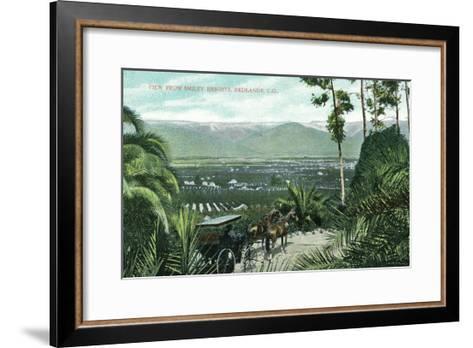 Redlands, California - View from Smiley Heights-Lantern Press-Framed Art Print