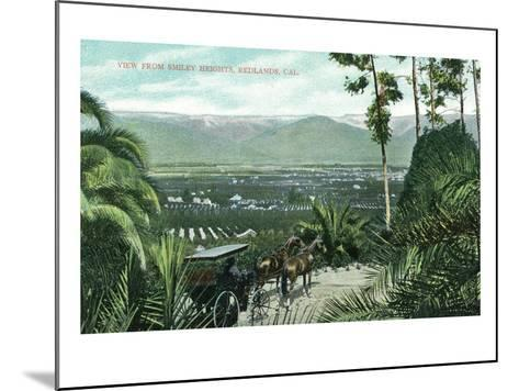 Redlands, California - View from Smiley Heights-Lantern Press-Mounted Art Print