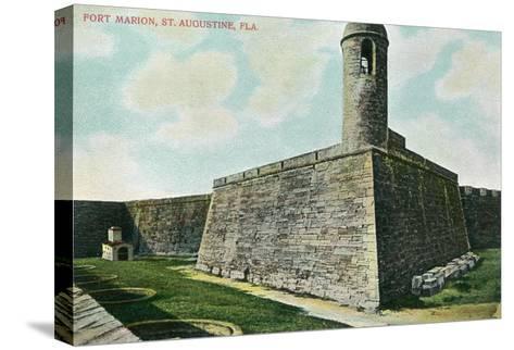 St. Augustine, Florida - Fort Marion Scene-Lantern Press-Stretched Canvas Print