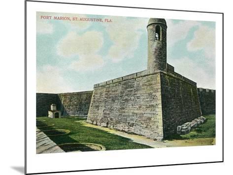 St. Augustine, Florida - Fort Marion Scene-Lantern Press-Mounted Art Print