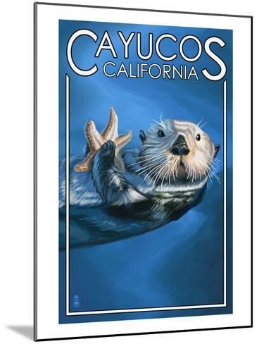 Cayucos, California - Sea Otter-Lantern Press-Mounted Art Print
