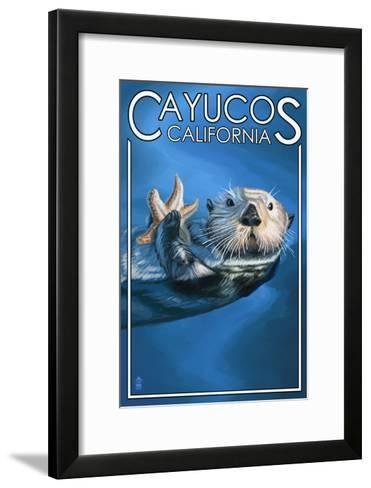 Cayucos, California - Sea Otter-Lantern Press-Framed Art Print