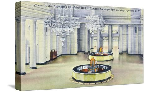 Saratoga Springs, New York - Hall of Springs Interior View-Lantern Press-Stretched Canvas Print