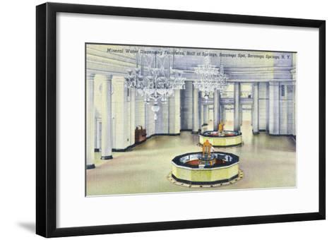 Saratoga Springs, New York - Hall of Springs Interior View-Lantern Press-Framed Art Print