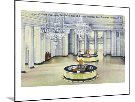 Saratoga Springs, New York - Hall of Springs Interior View-Lantern Press-Mounted Art Print