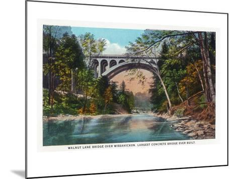 Philadelphia, Pennsylvania - Walnut Lane Bridge over Wissahickon River-Lantern Press-Mounted Art Print