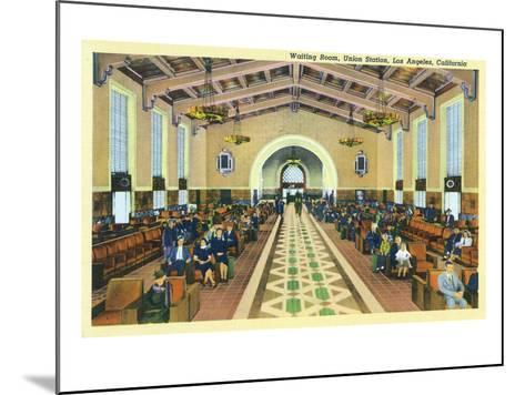 Los Angeles, California - Union Station Interior View of Waiting Room-Lantern Press-Mounted Art Print