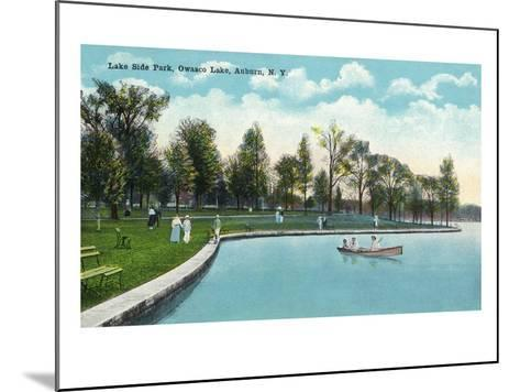 Auburn, New York - Owasco Lake, View of Lakeside Park-Lantern Press-Mounted Art Print