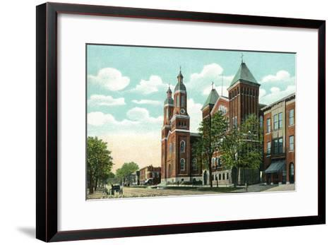 Syracuse, New York - Church of the Assumption Exterior View-Lantern Press-Framed Art Print
