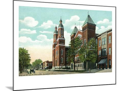Syracuse, New York - Church of the Assumption Exterior View-Lantern Press-Mounted Art Print