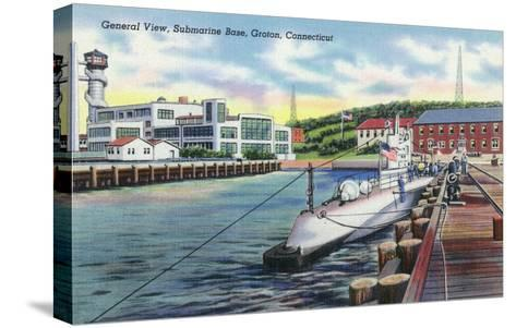 Groton, Connecticut - General View of the Submarine Base-Lantern Press-Stretched Canvas Print