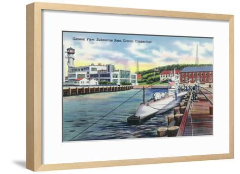 Groton, Connecticut - General View of the Submarine Base-Lantern Press-Framed Art Print