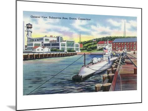 Groton, Connecticut - General View of the Submarine Base-Lantern Press-Mounted Art Print