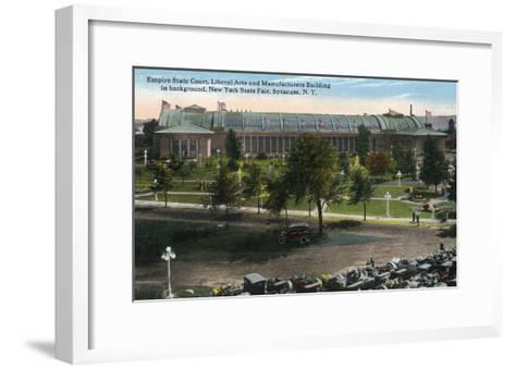Syracuse, New York - NY State Fair, Empire State Court View-Lantern Press-Framed Art Print