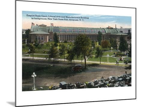 Syracuse, New York - NY State Fair, Empire State Court View-Lantern Press-Mounted Art Print