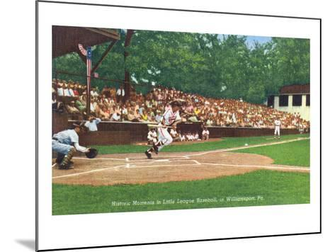 Williamsport, Pennsylvania - Kids Playing Little League Baseball-Lantern Press-Mounted Art Print
