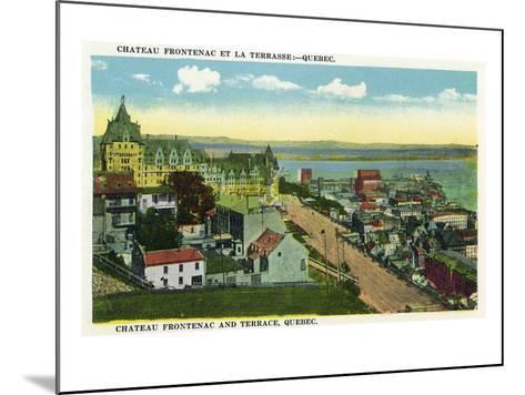 Quebec, Canada - Chateau Frontenac and Terrace Scene-Lantern Press-Mounted Art Print