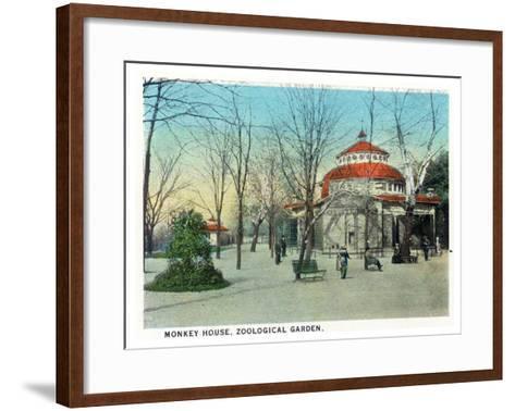 Cincinnati, Ohio - Zoological Gardens Monkey House-Lantern Press-Framed Art Print
