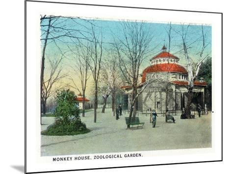 Cincinnati, Ohio - Zoological Gardens Monkey House-Lantern Press-Mounted Art Print