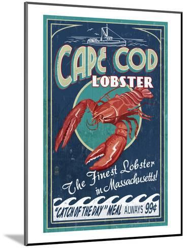 Cape Cod, Massachusetts - Lobster-Lantern Press-Mounted Art Print