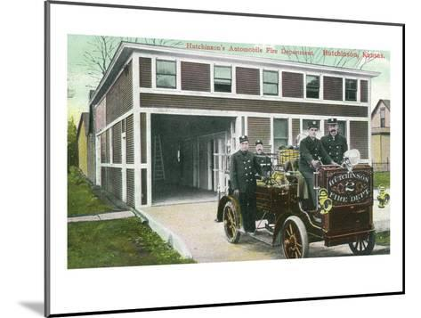 Hutchinson, Kansas - Fire Station No 2 Exterior with Truck View-Lantern Press-Mounted Art Print