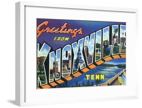 Knoxville, Tennessee - Large Letter Scenes-Lantern Press-Framed Art Print