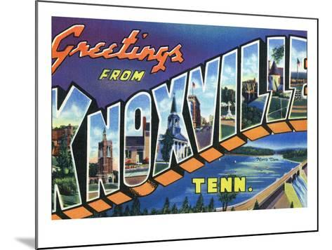 Knoxville, Tennessee - Large Letter Scenes-Lantern Press-Mounted Art Print