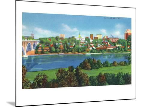 Knoxville, Tennessee - Panoramic View of the City Skyline-Lantern Press-Mounted Art Print
