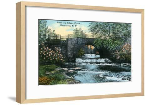 Rochester, New York - Allen's Creek Scene-Lantern Press-Framed Art Print